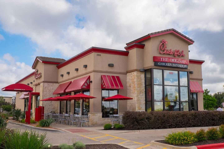 A Chick- Fil-A restaurant.