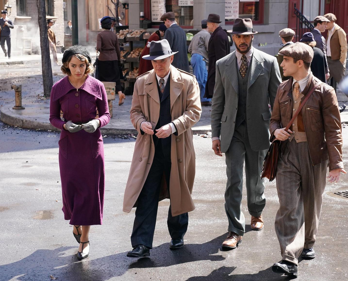 Marvel's Agents of S.H.I.E.L.D.: Daisy, Coulson, Mack, and Deke blend in to the 1930s New York.