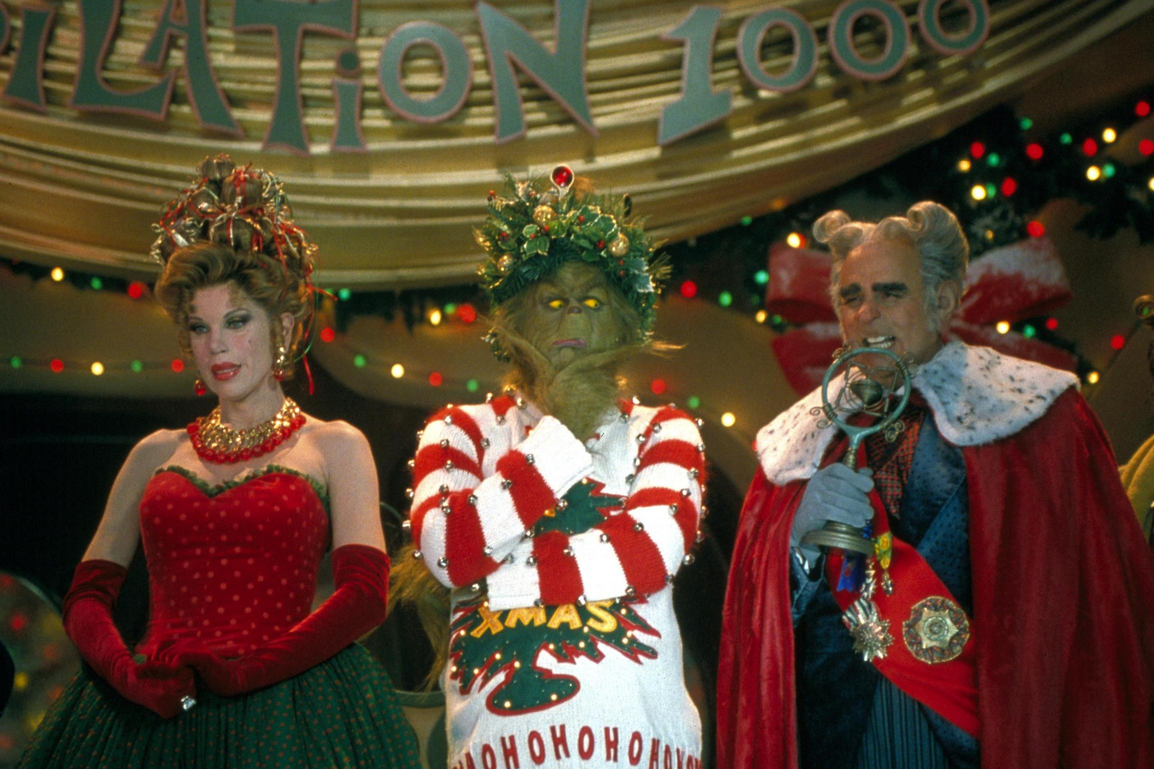 The Grinch, Whoville Residents, and the Mayor.