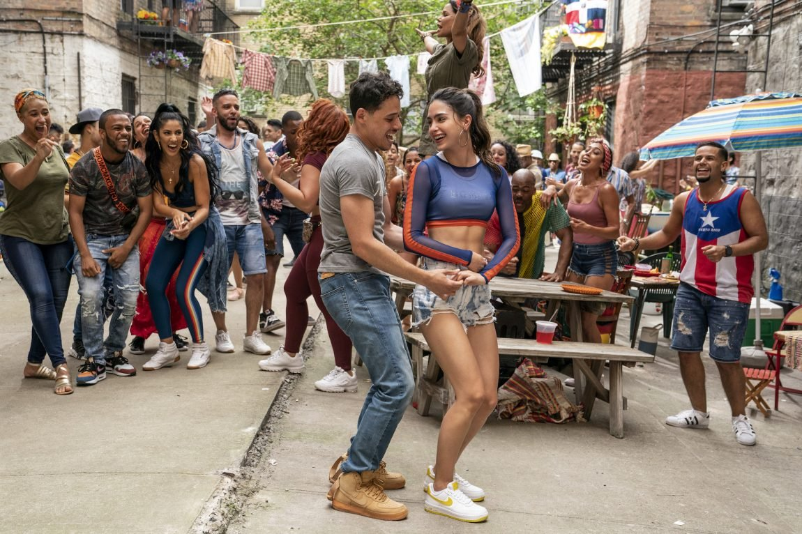 Usnavi dances with Vanessa in the In the Heights trailer.