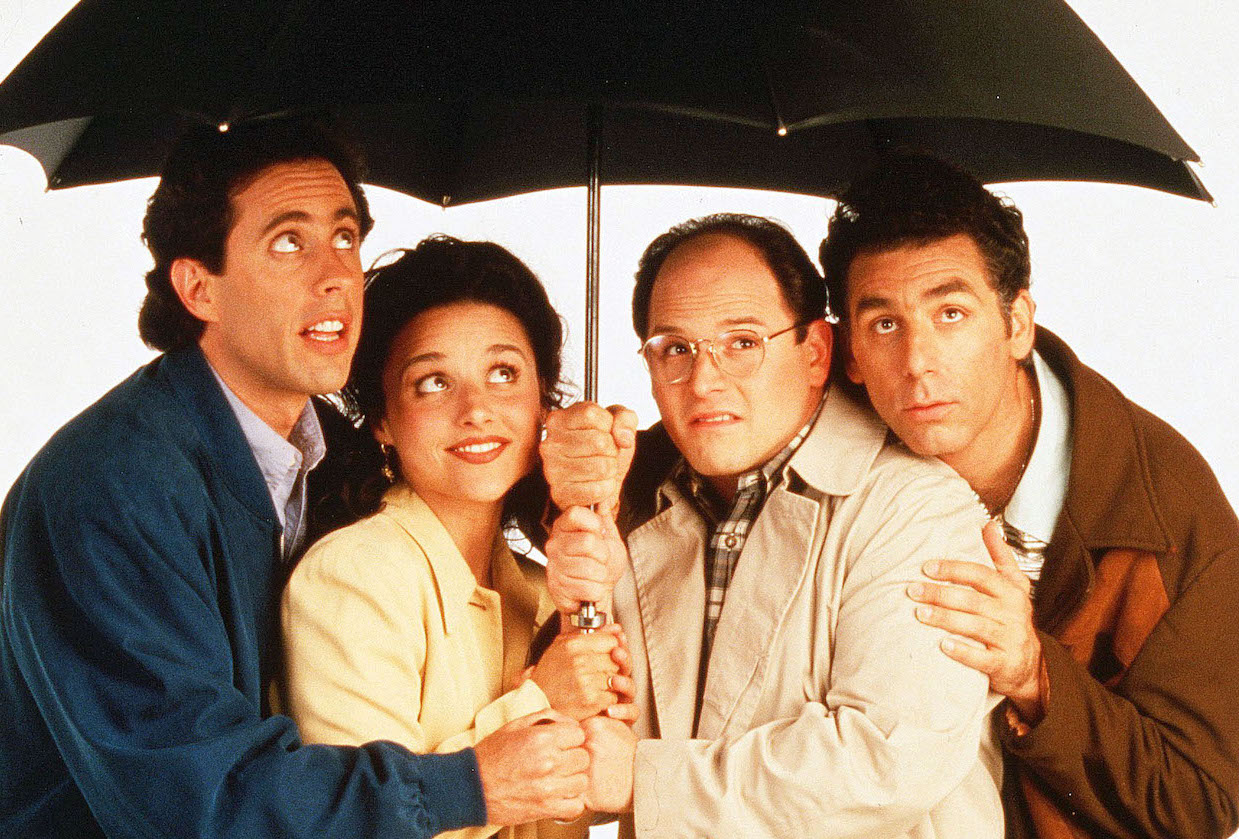 No Merchandising. Editorial Use Only. No Book Cover Usage. Mandatory Credit: Photo by George Lange/NBC TV/Kobal/REX/Shutterstock (5885737m) Jerry Seinfeld, Julia Louis-Dreyfus, Jason Alexander, Michael Richards Seinfeld - 1990-1998 NBC TV Television