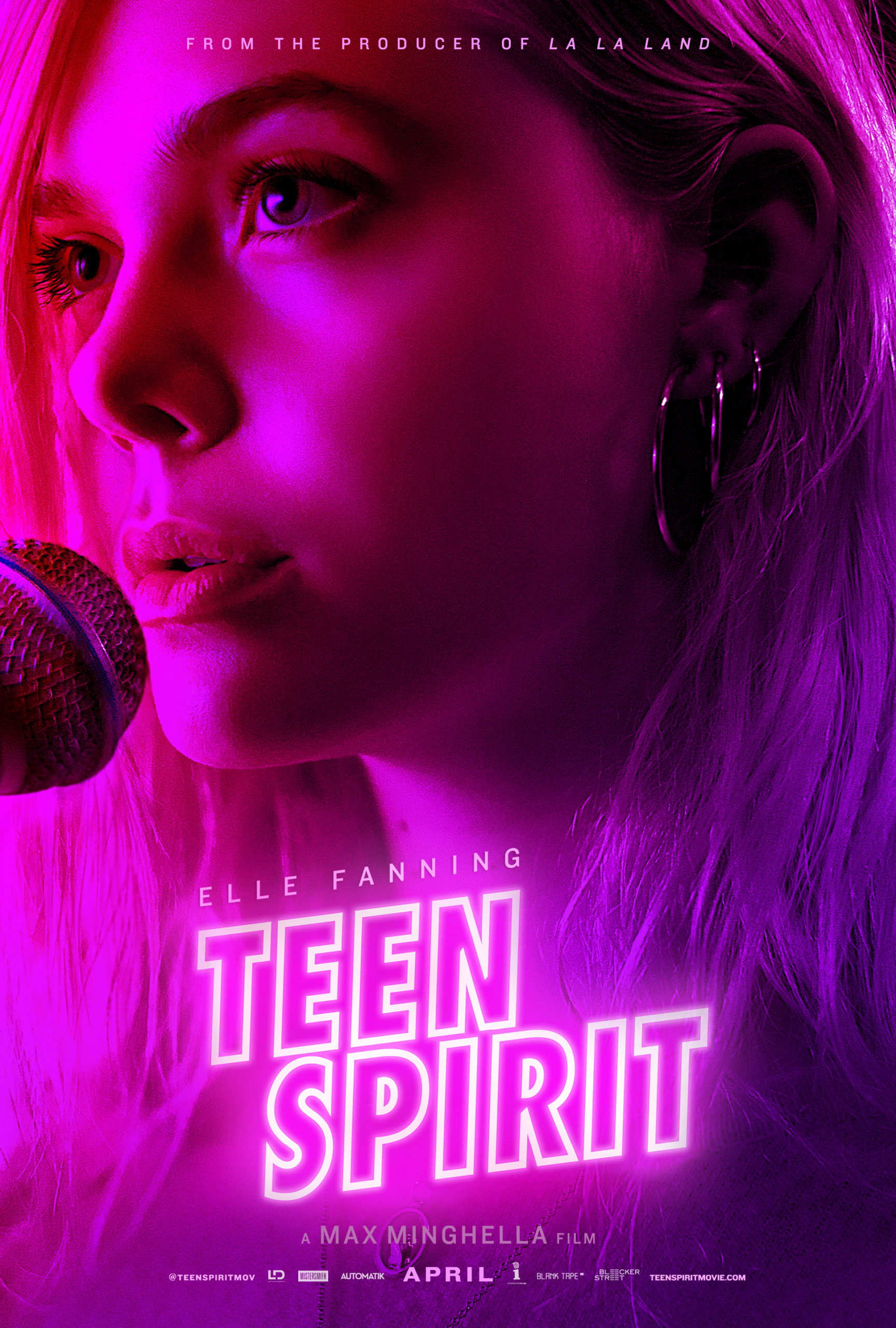 Poster for Teen Spirit of movies you missed with a close up of Elle Fanning at a microphone.
