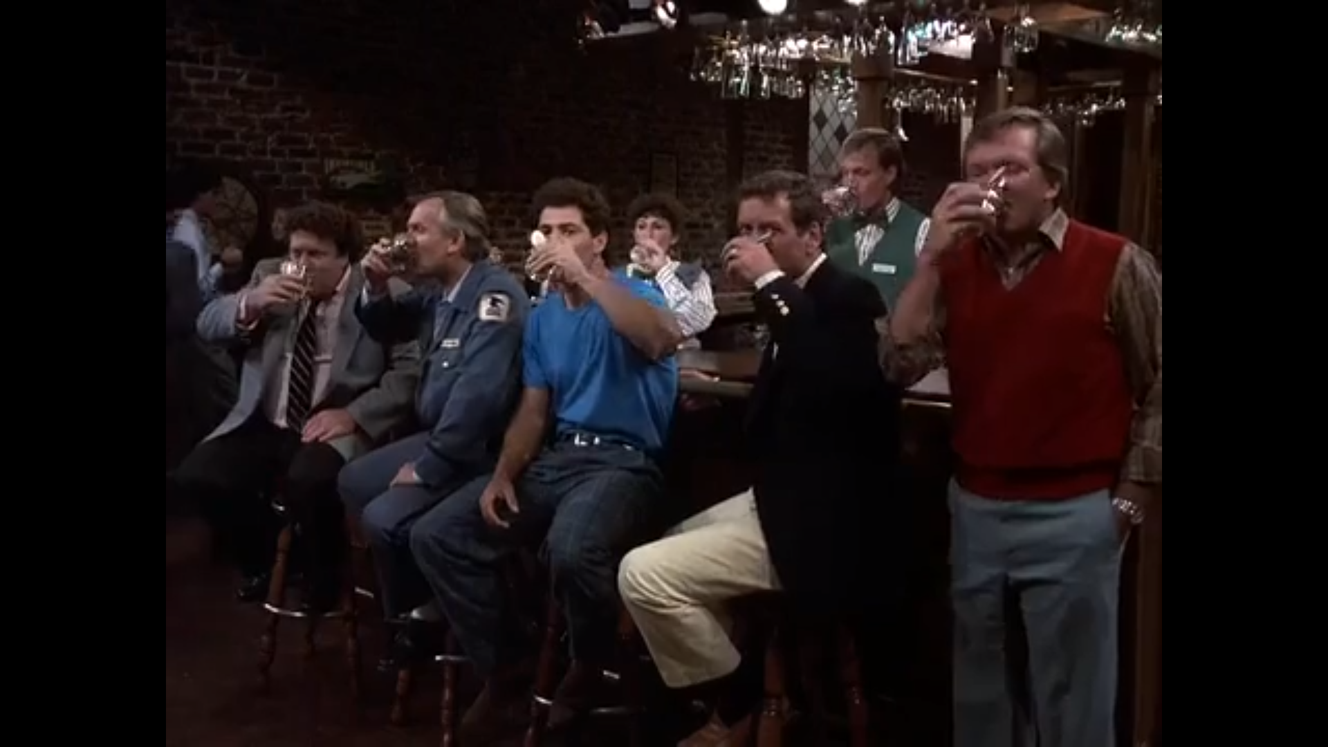 The cast of Cheers.