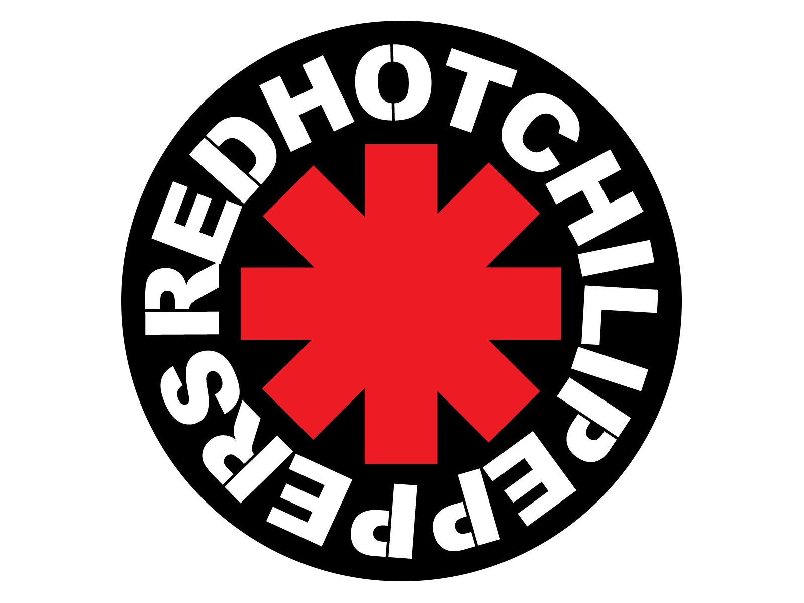 The Red Hot Chili Pepper logo.