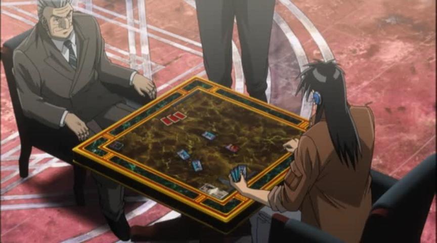 Kaiji and Tonegawa playing a card game.