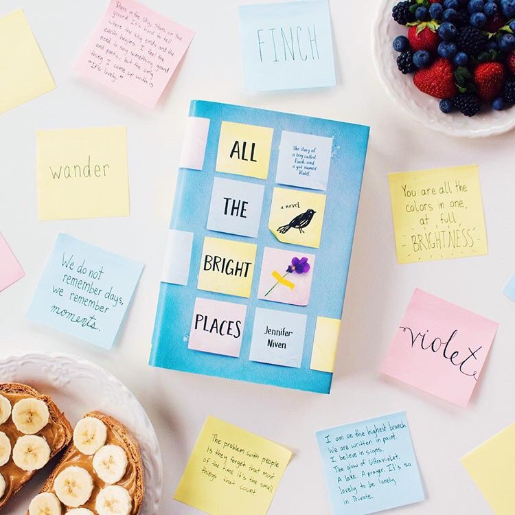 The book cover of Jennifer Niven's book All The Bright Places.