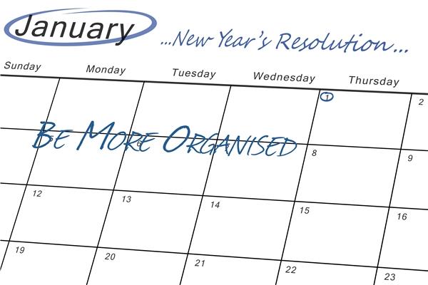 New Year's Goals Calendar.