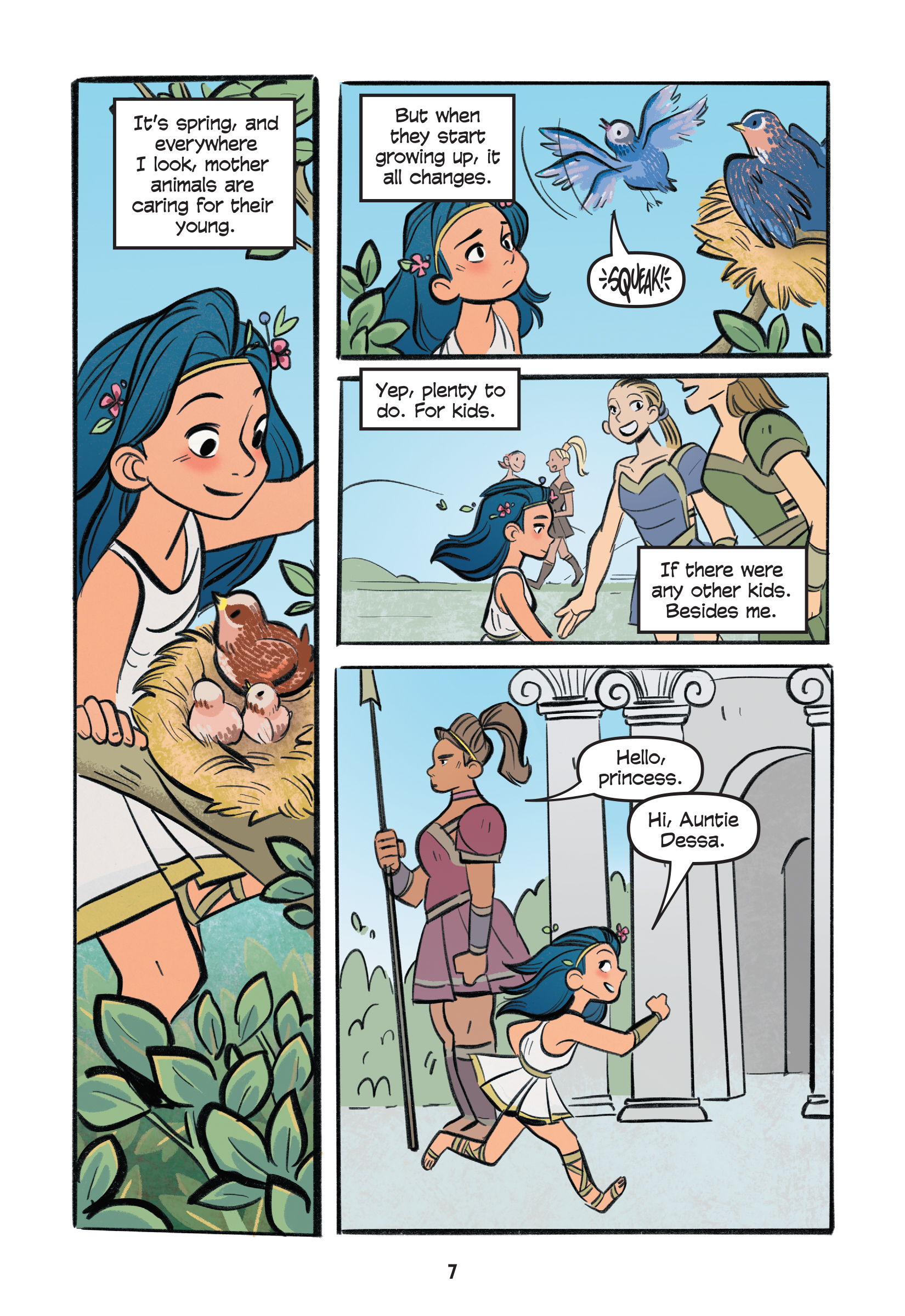 Diana struggles with the fact that there are no other kids on the island of Themyscira.