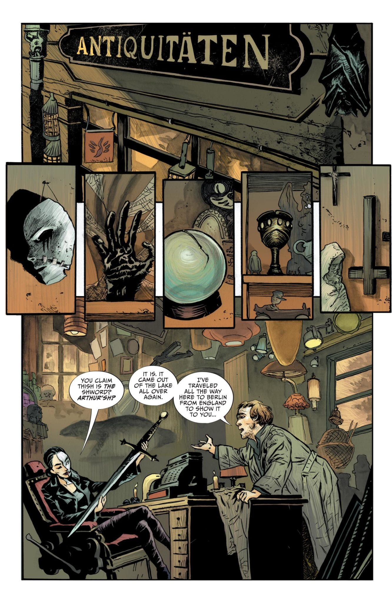 Lucifer #16, Page #4; Mazikeen buys a sword