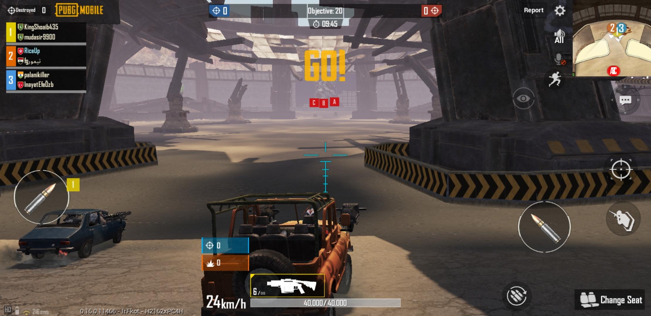 Three duo teams prepare for a TDM RageGear battle in PUBG Mobile.