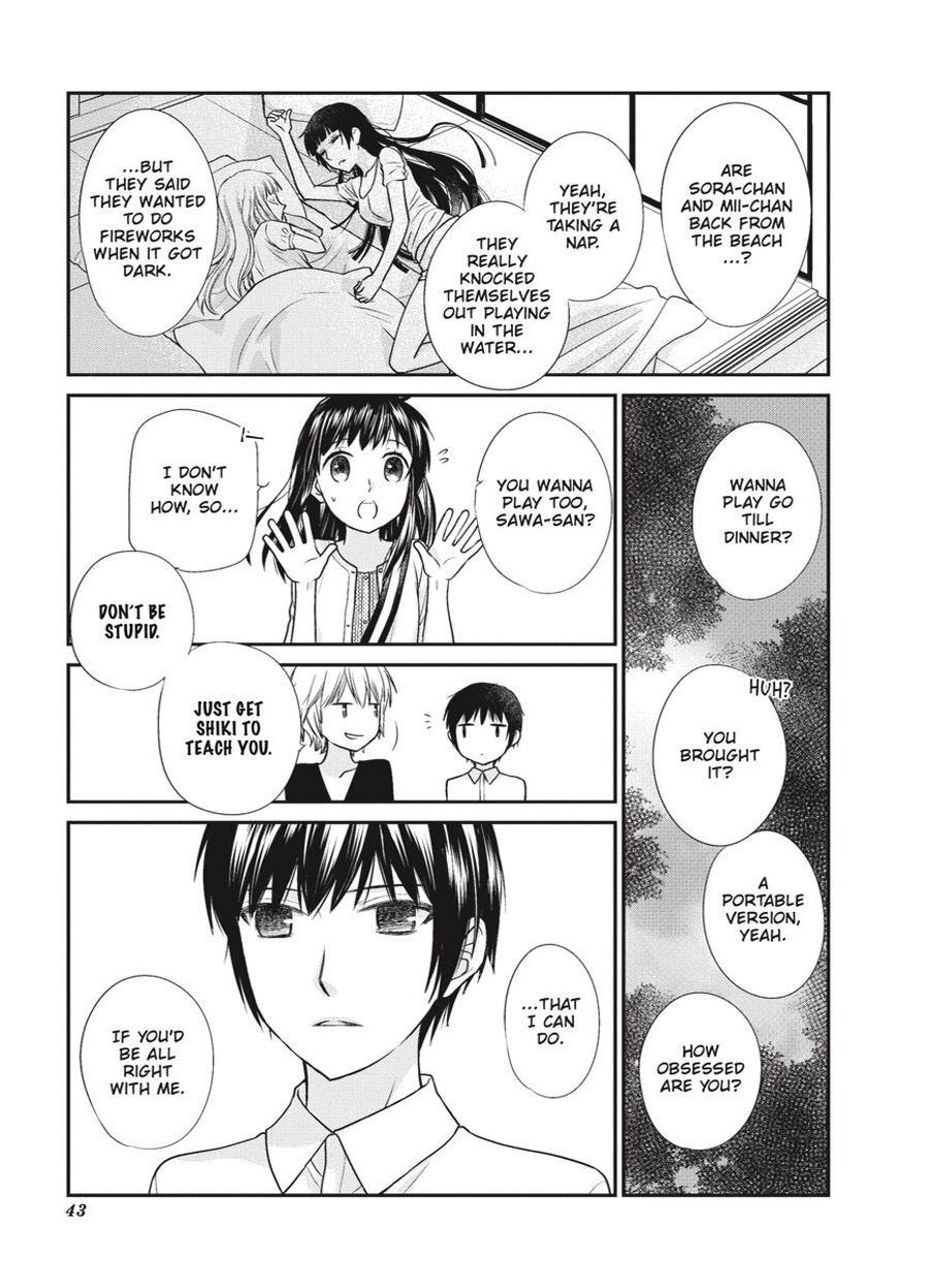 Sawa and Shiki talking in Fruits Basket Another Volume Three.