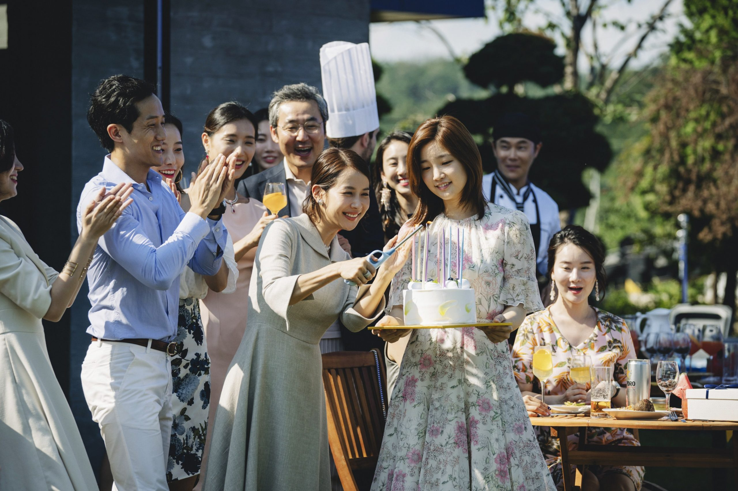 In the movie Parasite, Kim Ki-Jung attends the Park family's son's birthday party, at Park Yeon-kyo's request.