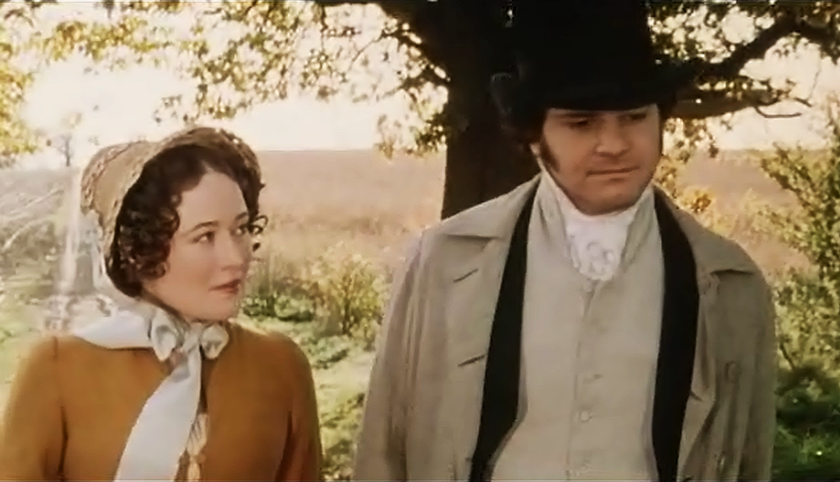 Jennifer Ehle and Colin Firth in the 1995 Pride and Prejudice