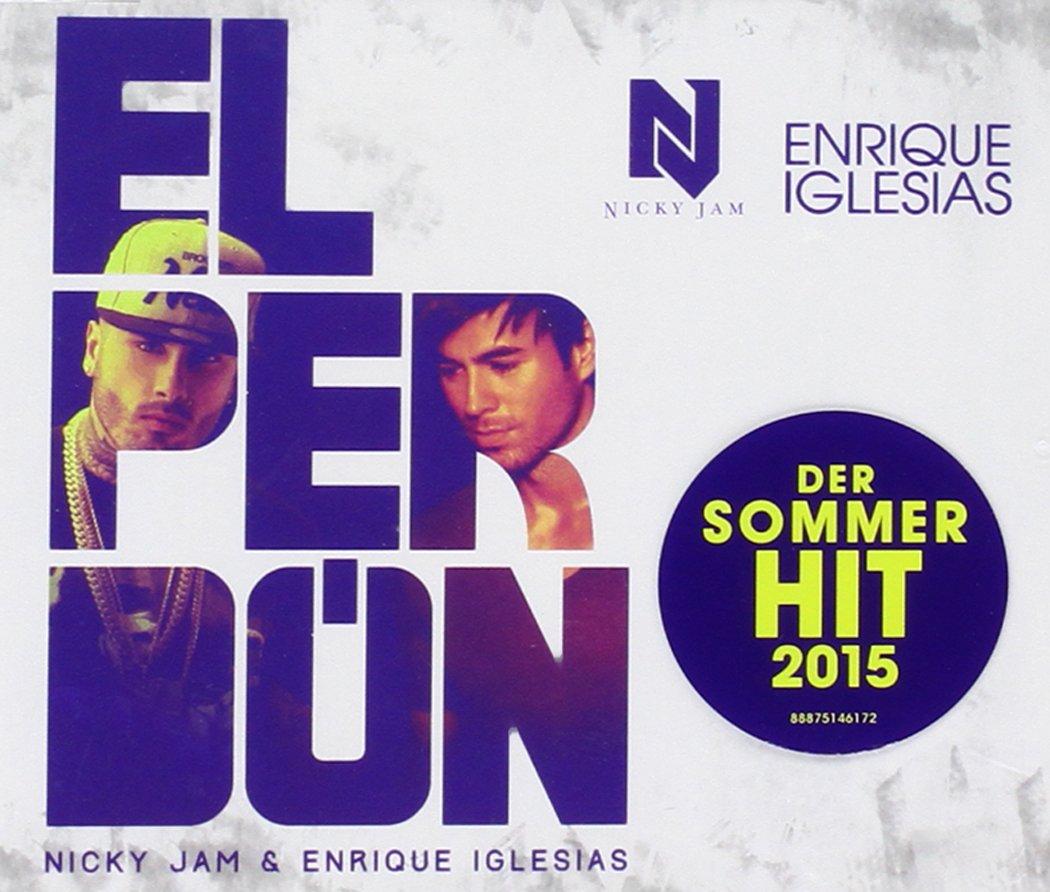 "Album cover for Nicky Jam and Enrique Iglesias' song, ""El Perdon"""