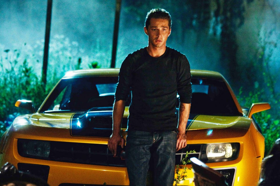 From the Micheal Bay Transformers movies: Shia LeBouf as Sam, with Bee in his Camaro alt-mode.