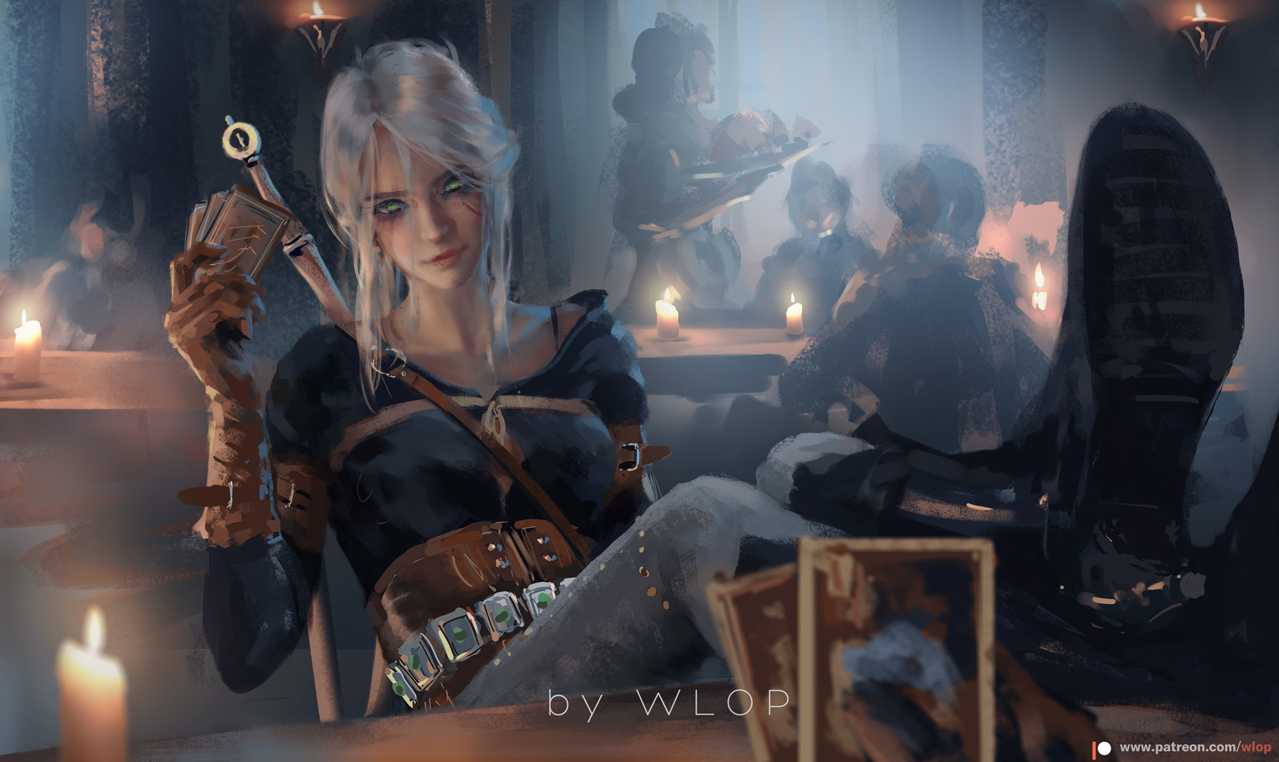 Strong female character Cirilla Fiona Elen Riannon of the witcher saga