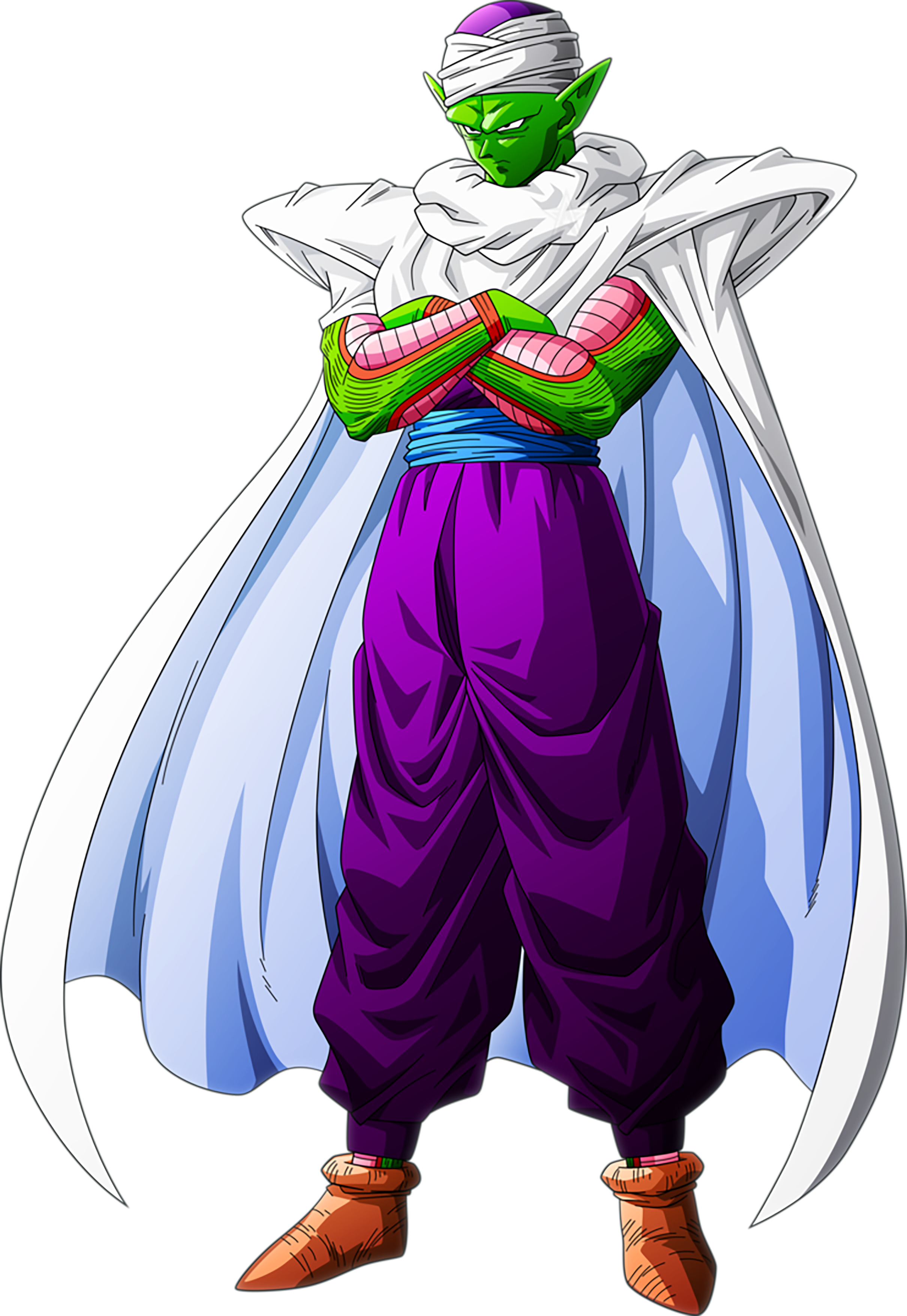 Piccolo standing tall with his arms crossed.