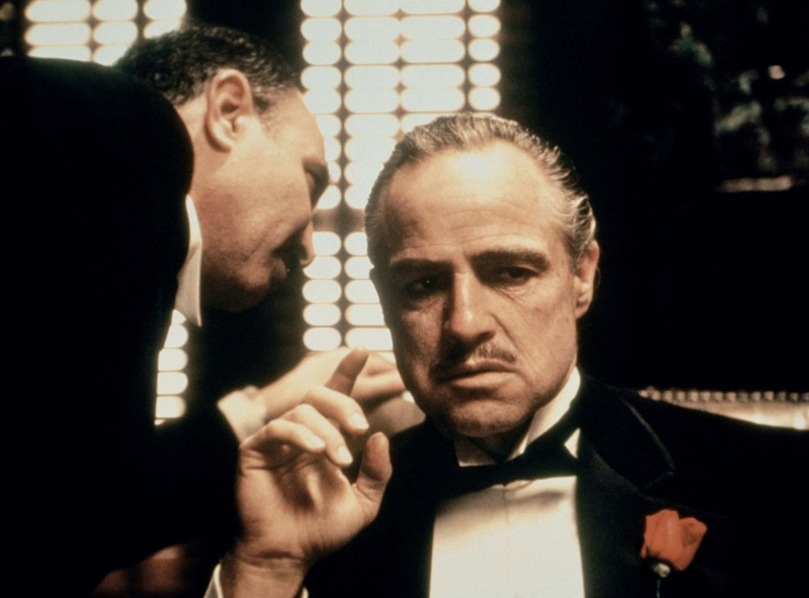 Don Vito Corleone, a man that has no time for romance in his life, played by Marlon Brando