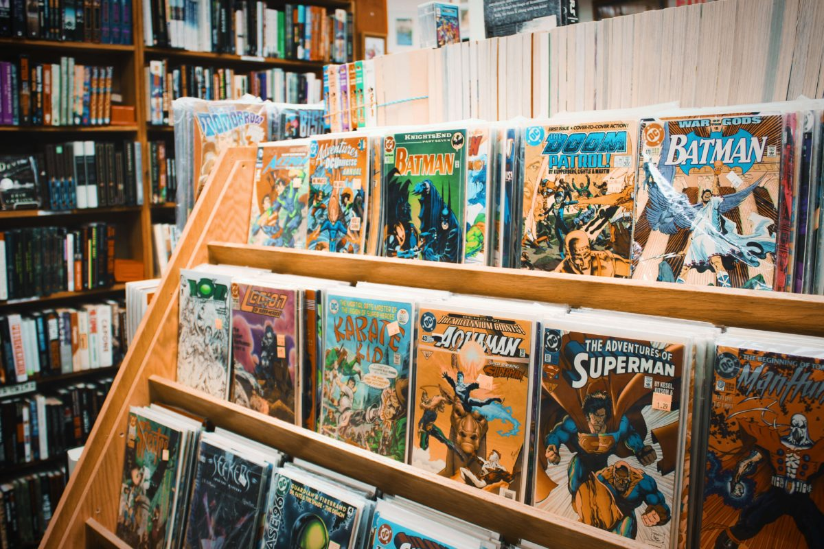 Valentines Day: Popular comics line comic book store shelves.