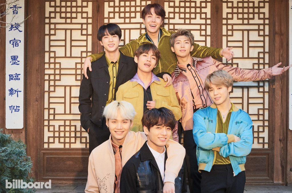 BTS posing for Billboard