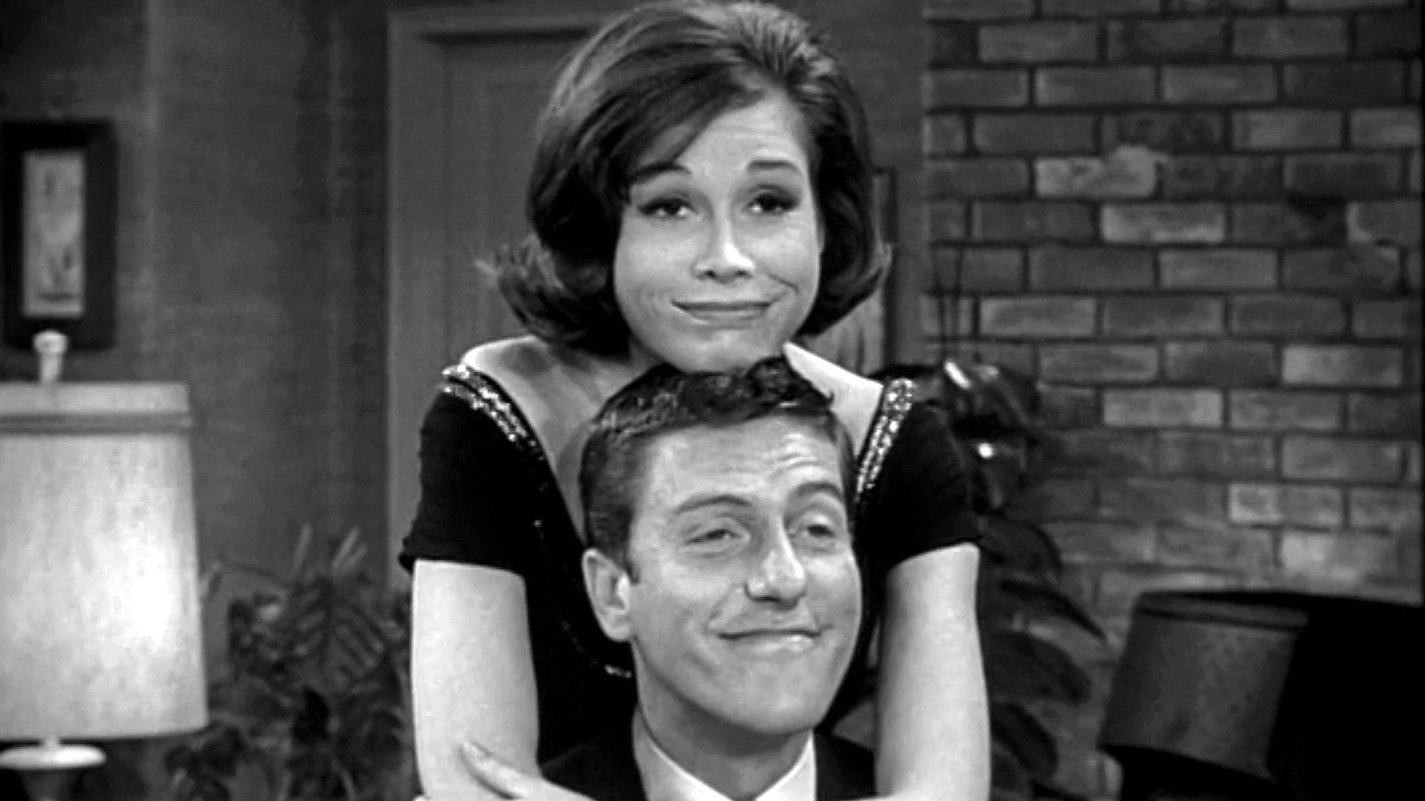 Dick Van Dyke and Mary Tyler Moore, the stars of The Dick Van Dyke Show, one of the 1960s most charming TV shows