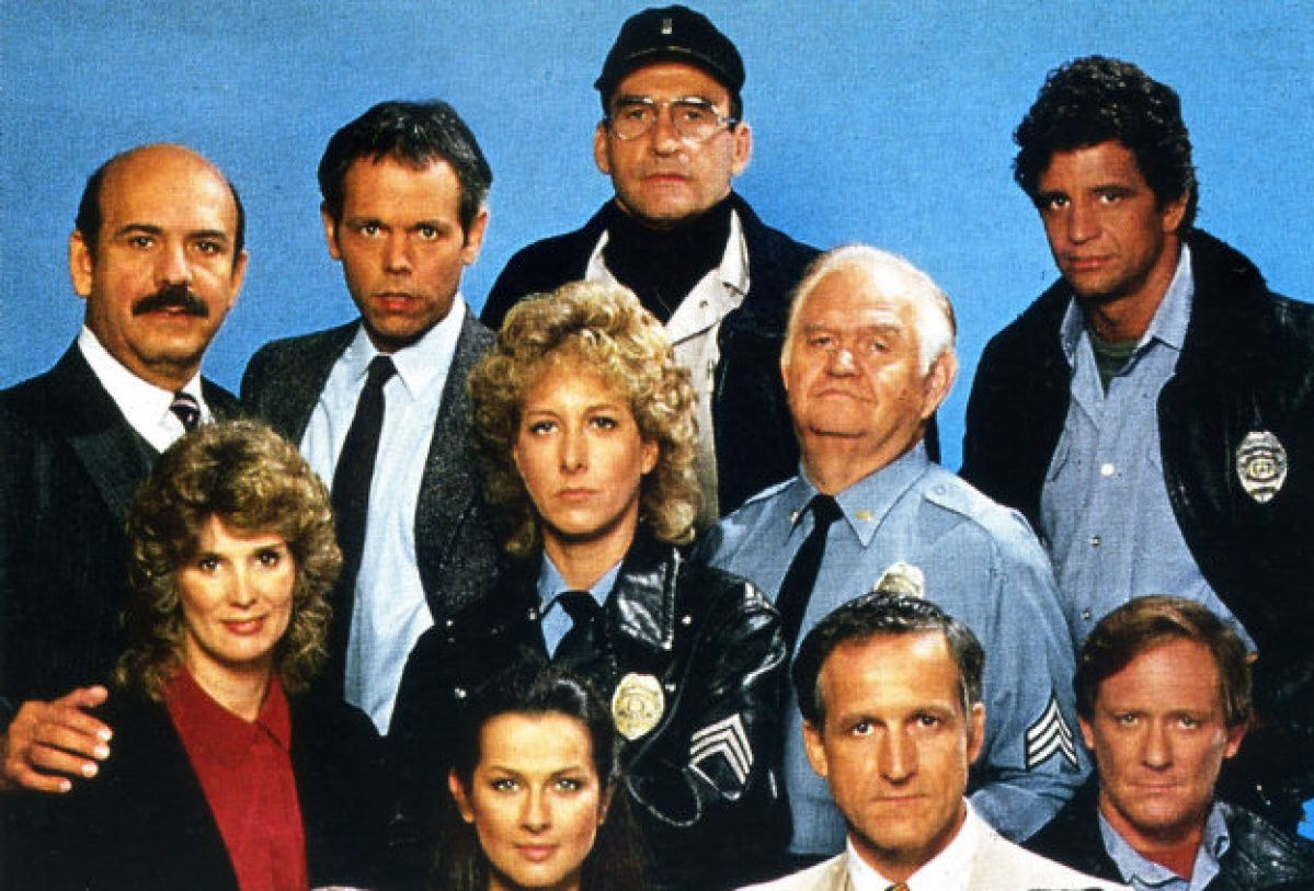 The cast of Hill Street Blues, one of many cop TV shows, but the one that stood out