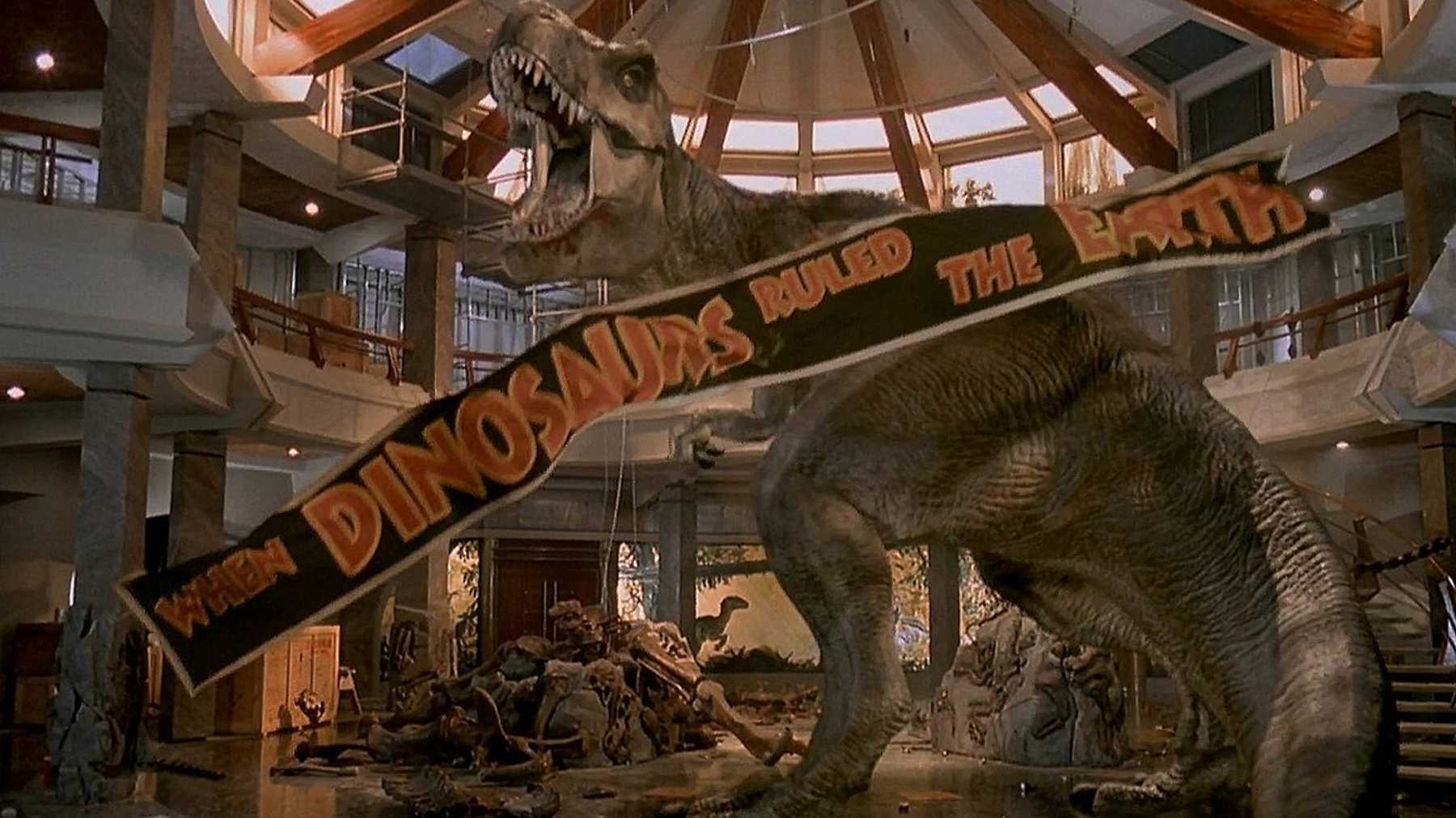 T-Rex at the end of Jurassic Park, a personal favorite for when I am sick.