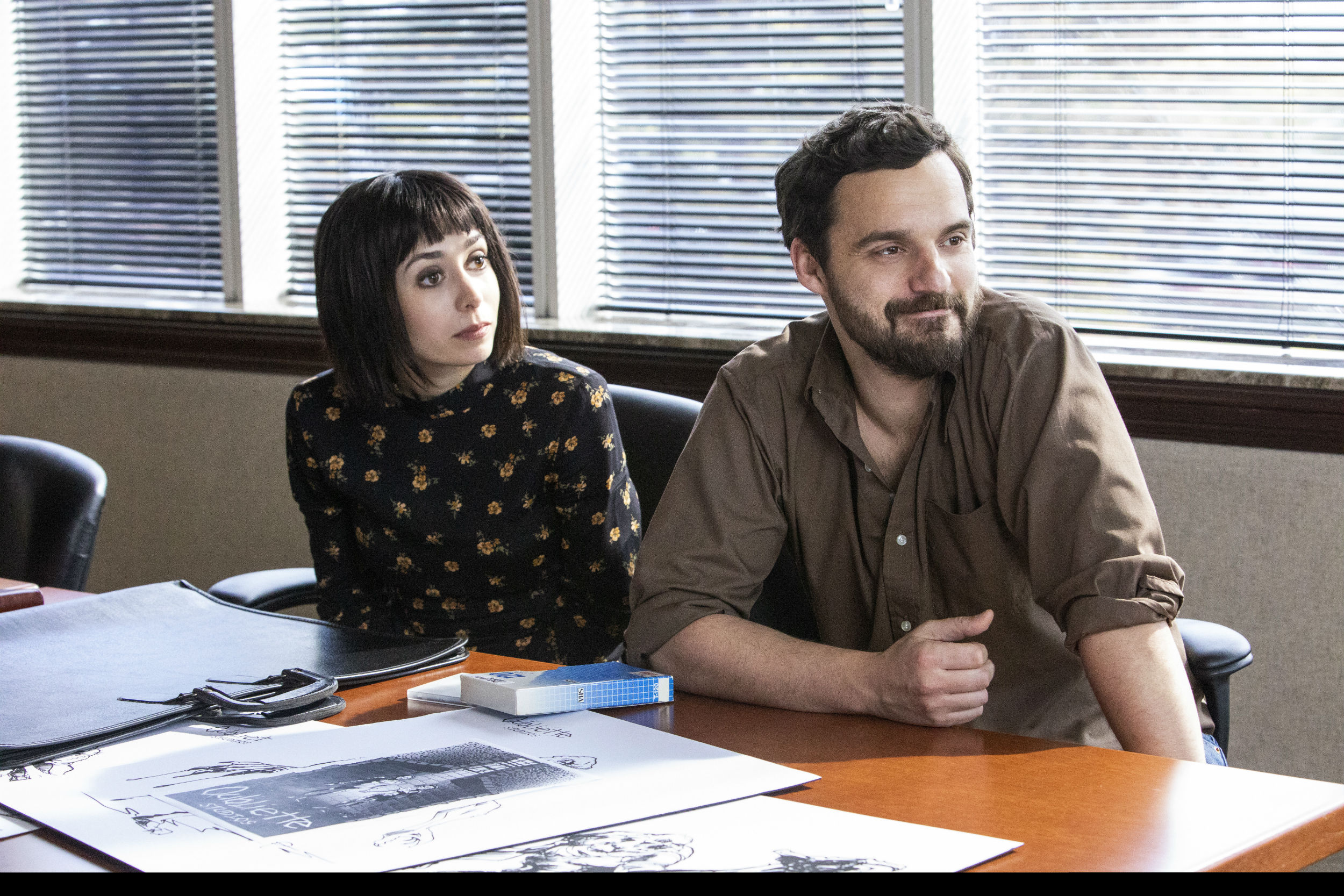 Jake Johnson and Cristin Milioti playing two unnamed game developers.