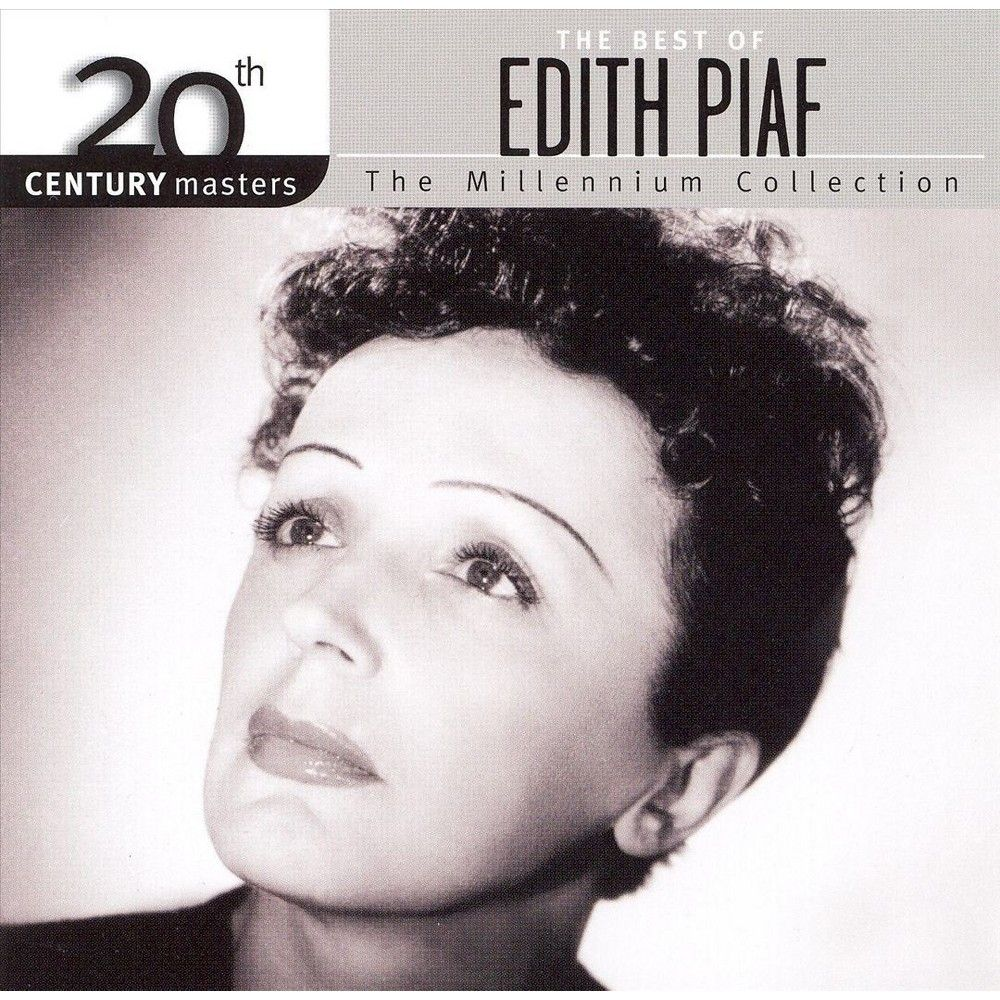 Edith Piaf Staring off into the distance on an album cover