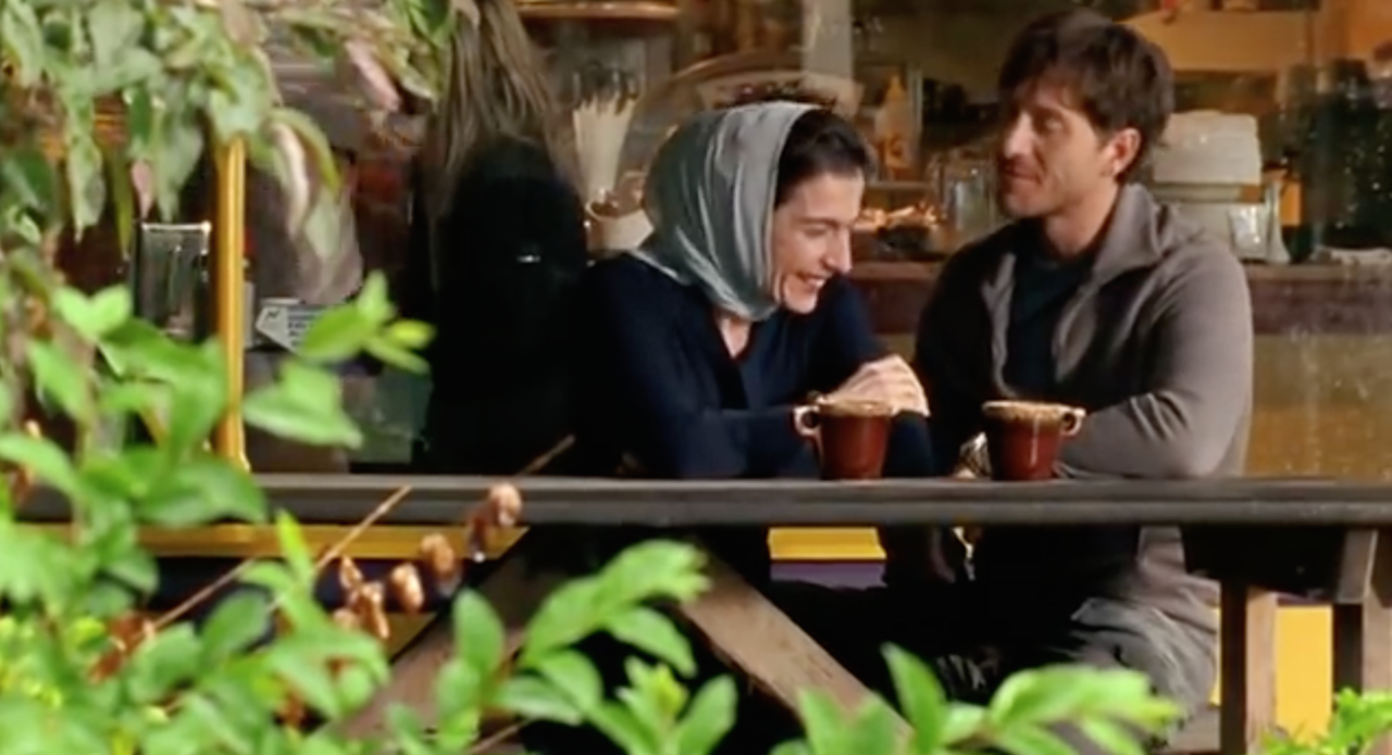Arsinée Khanjian and Shawn Doyle as the two romantic leads in the unromanticized Sabah