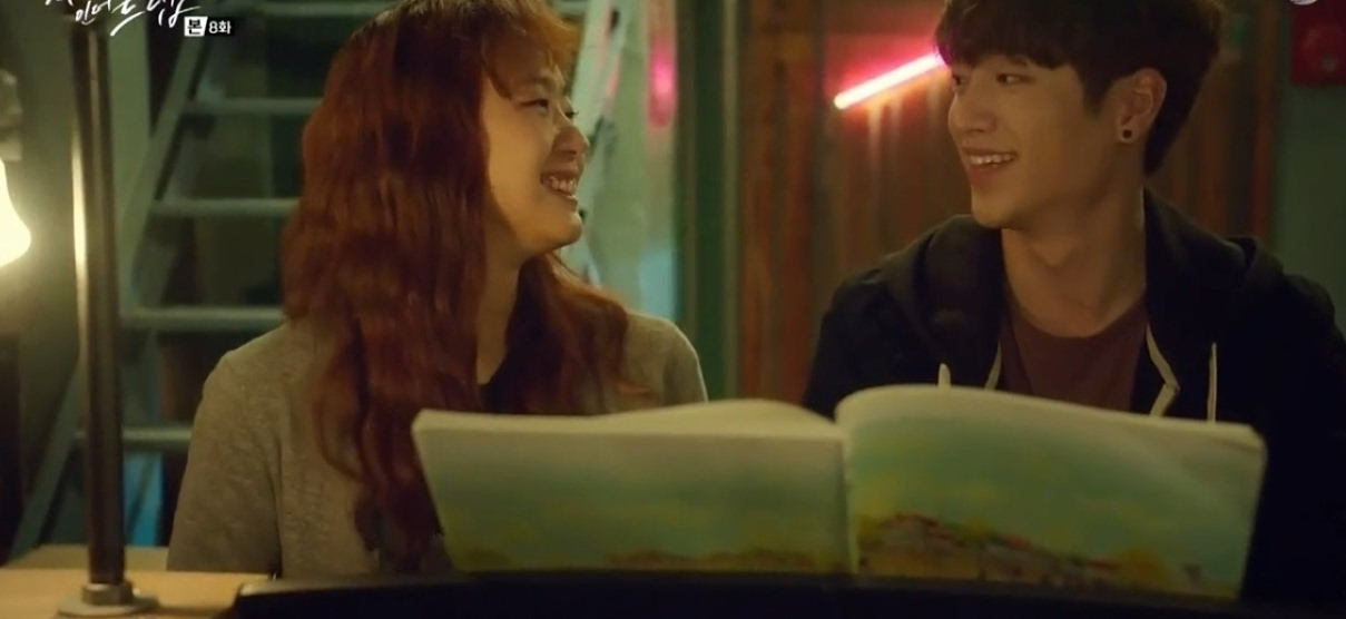 Hong Seol and In Ho sit together at piano.