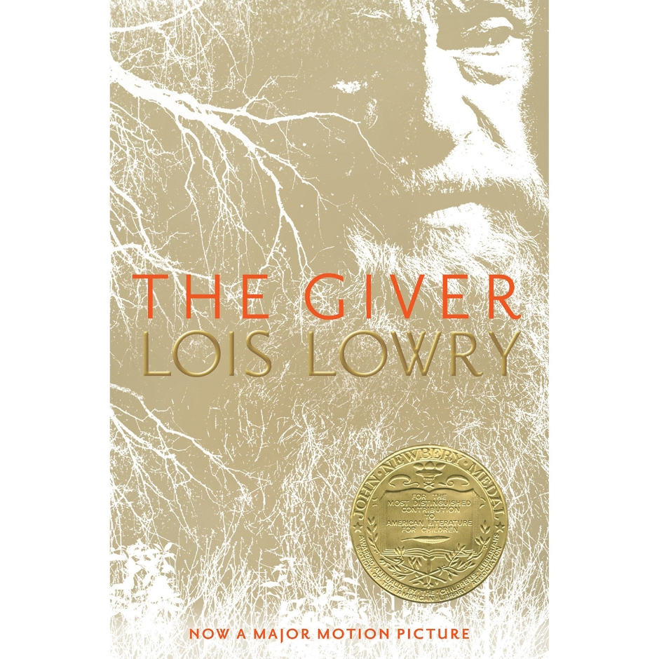 Dystopian novel #2: The Giver by Lois Lowry book cover.