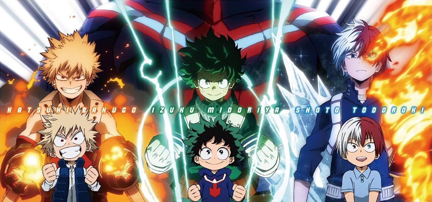 Big three Todoroki Shouto, Midoriya Izuku, and Bakugou Katsuki