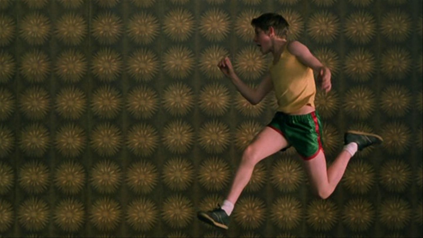Billy Elliot jumping and dancing.