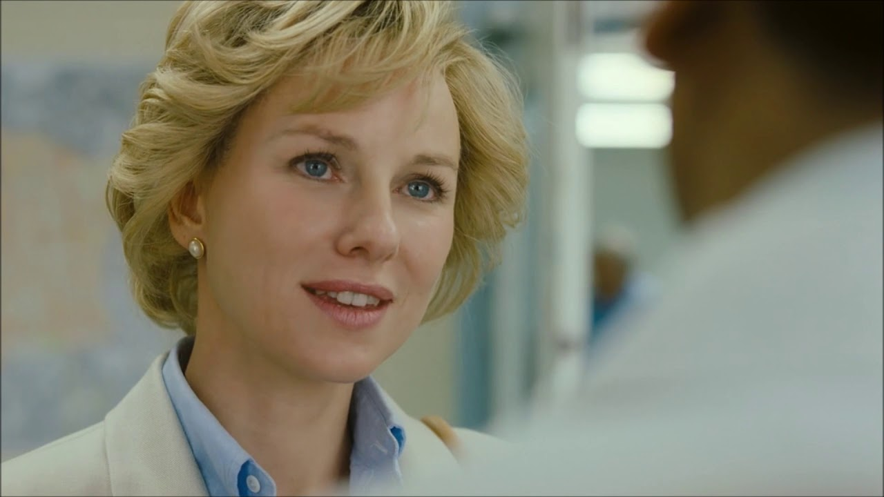 Naomi Watts playing Diana, Princess of Whales in the biopic Diana.