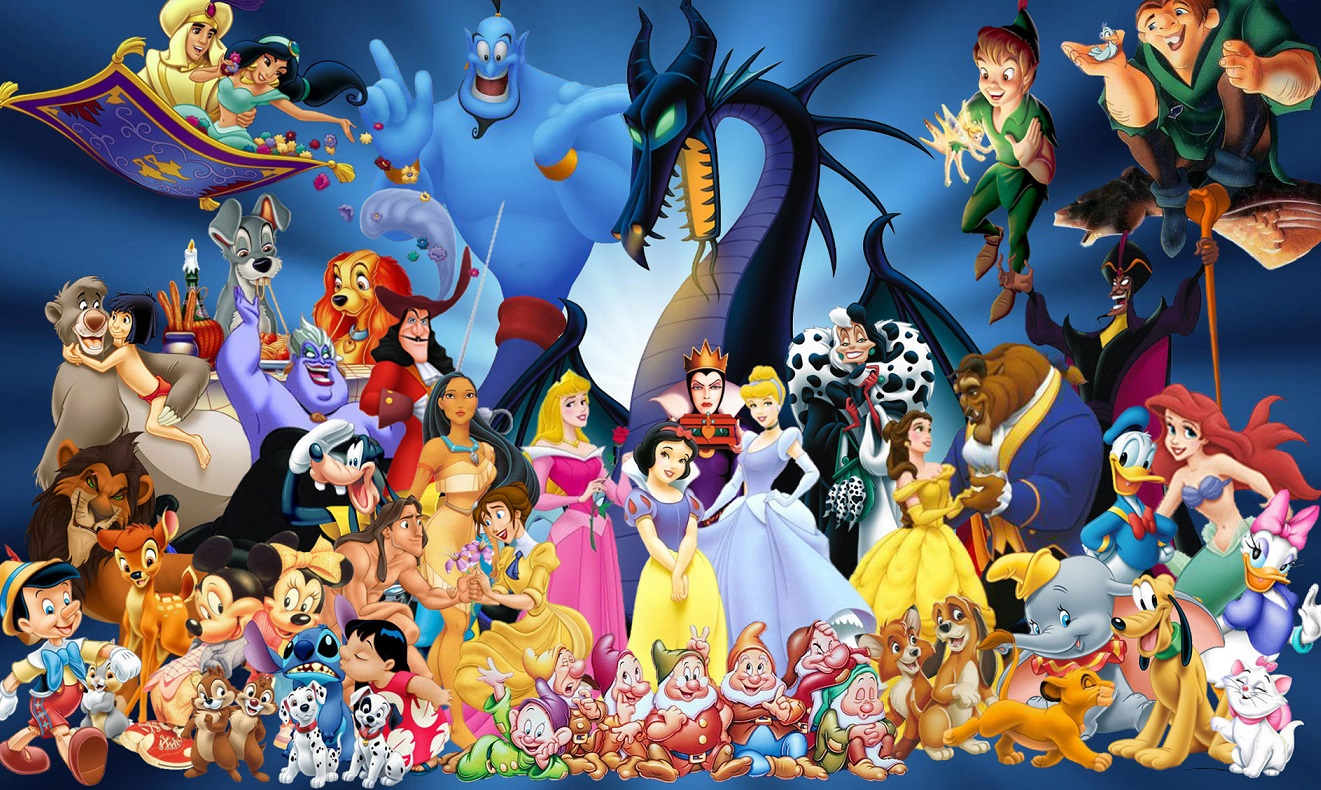 The entire cast of the classic Disney movies