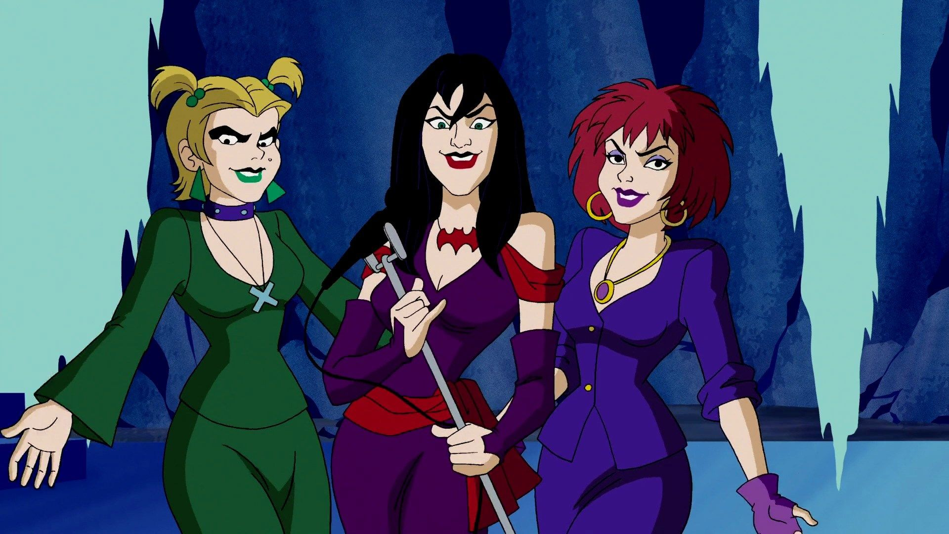 The hex girls standing together.