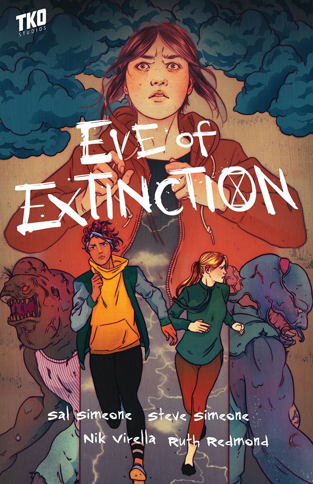 The cover of Eve of Extinction, a comic book series under TKO Studios (2019-2020).