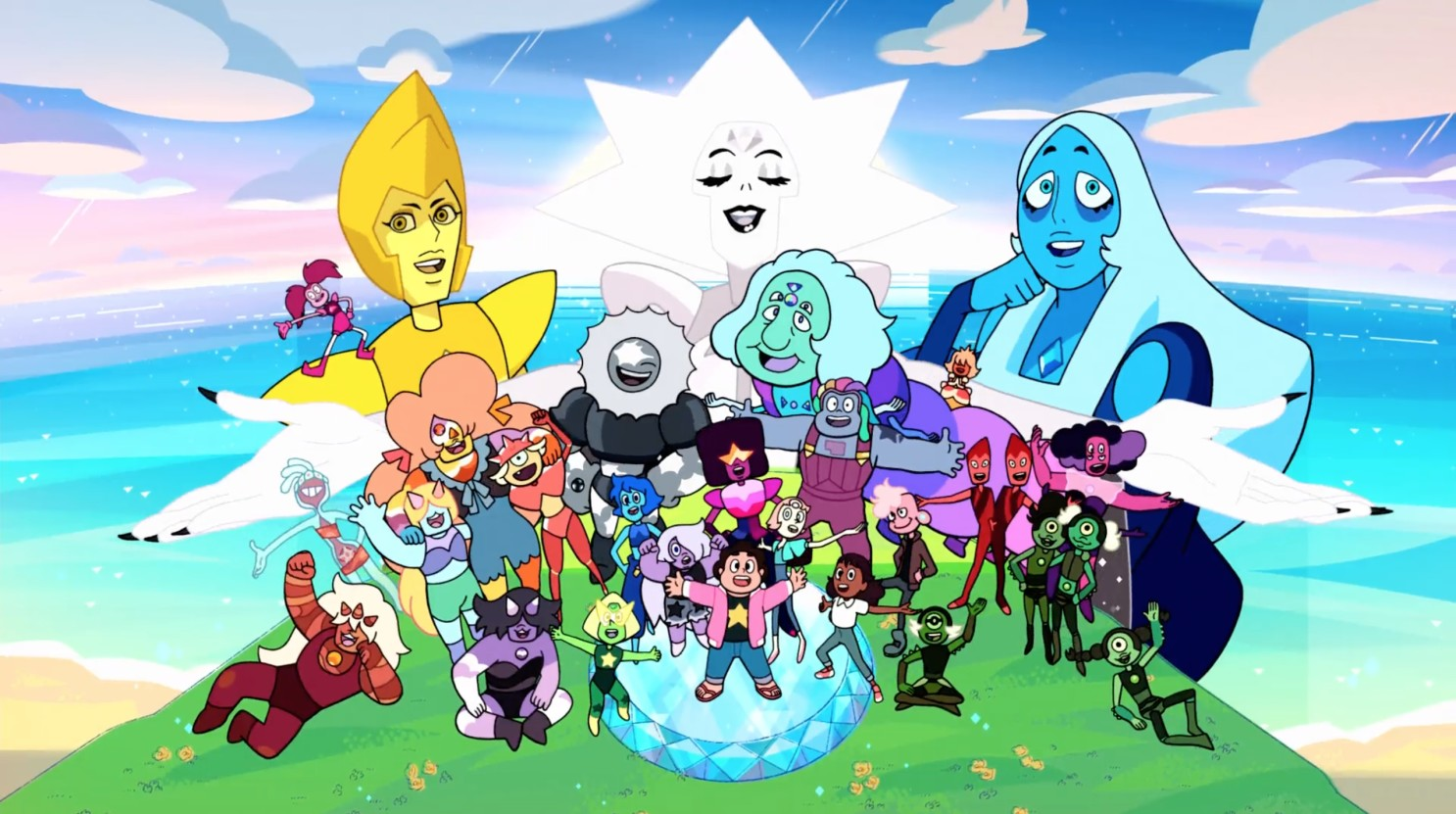 The gang of Steven Universe on Catroon Network.