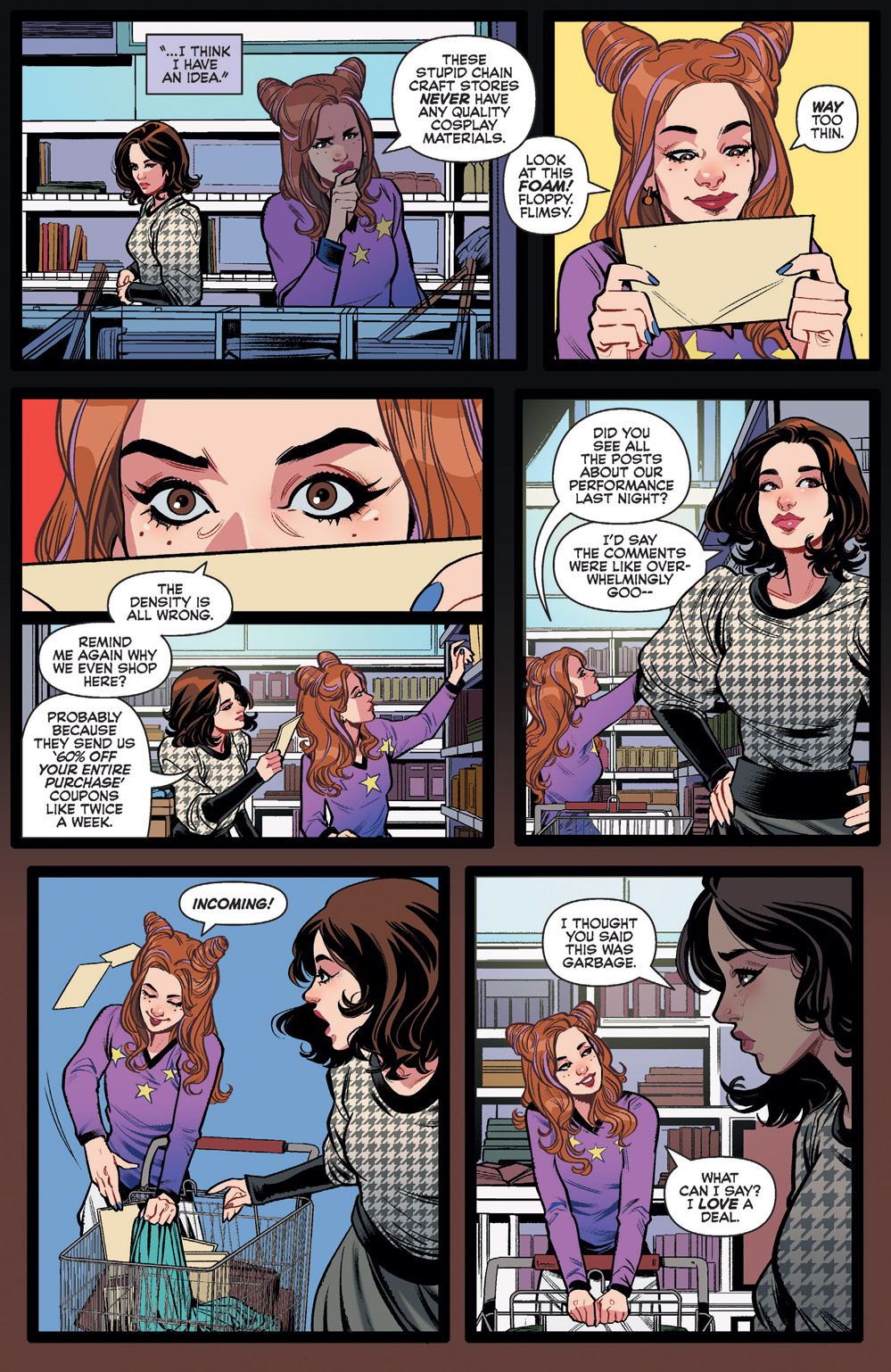 Shopping for deals with Katy Keene and Sis in Archie and Katy Keene #2.