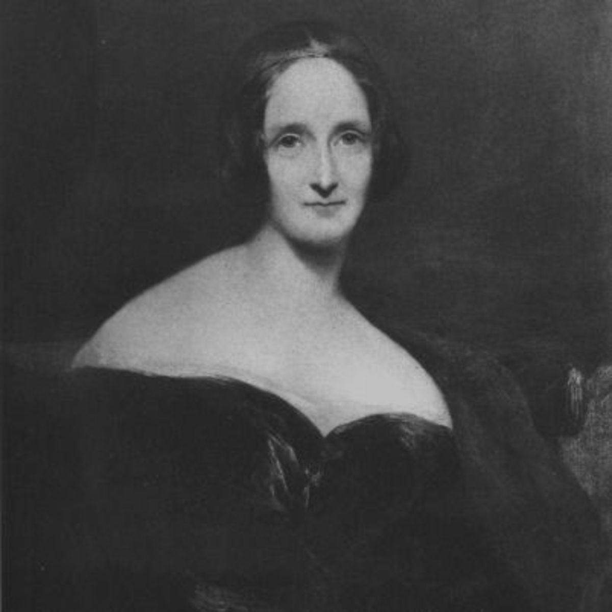 A portrait of Mary Shelley, a writer of the Romanticism movement.