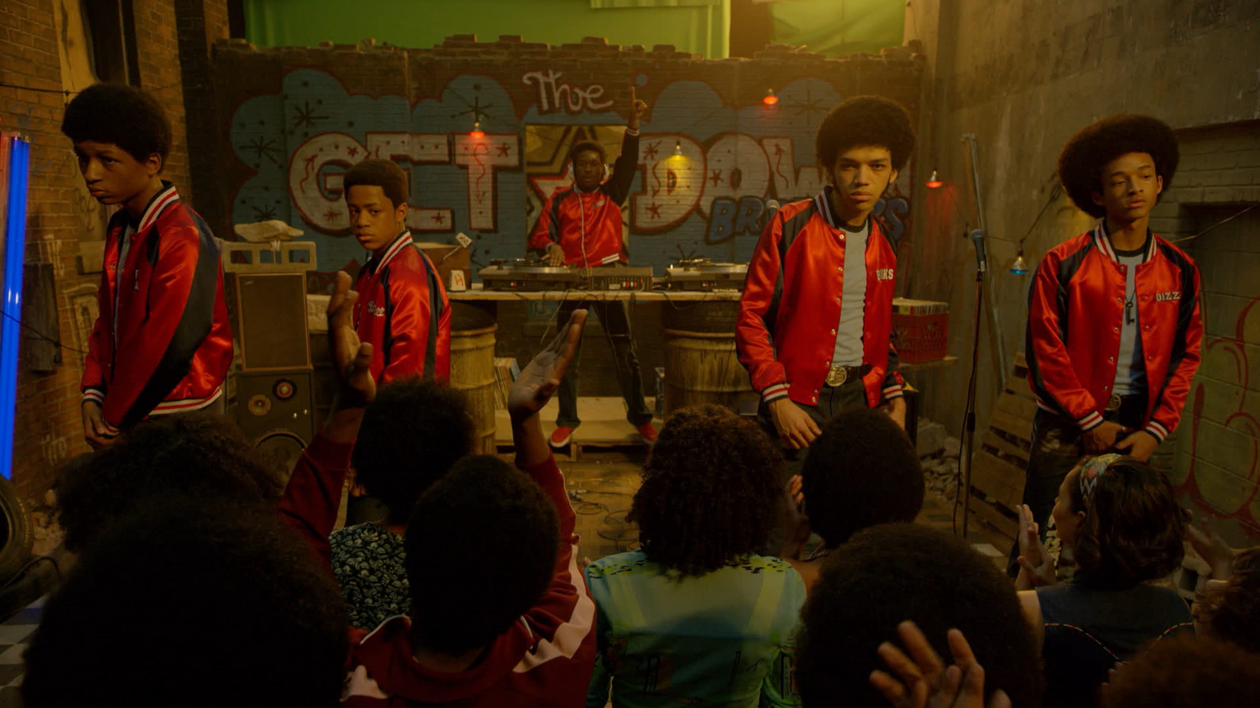 The Get Down Crew perform a set