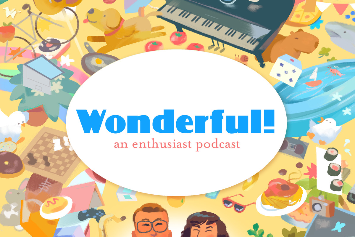 The Wonderful podcast logo displays some things that bring us zen