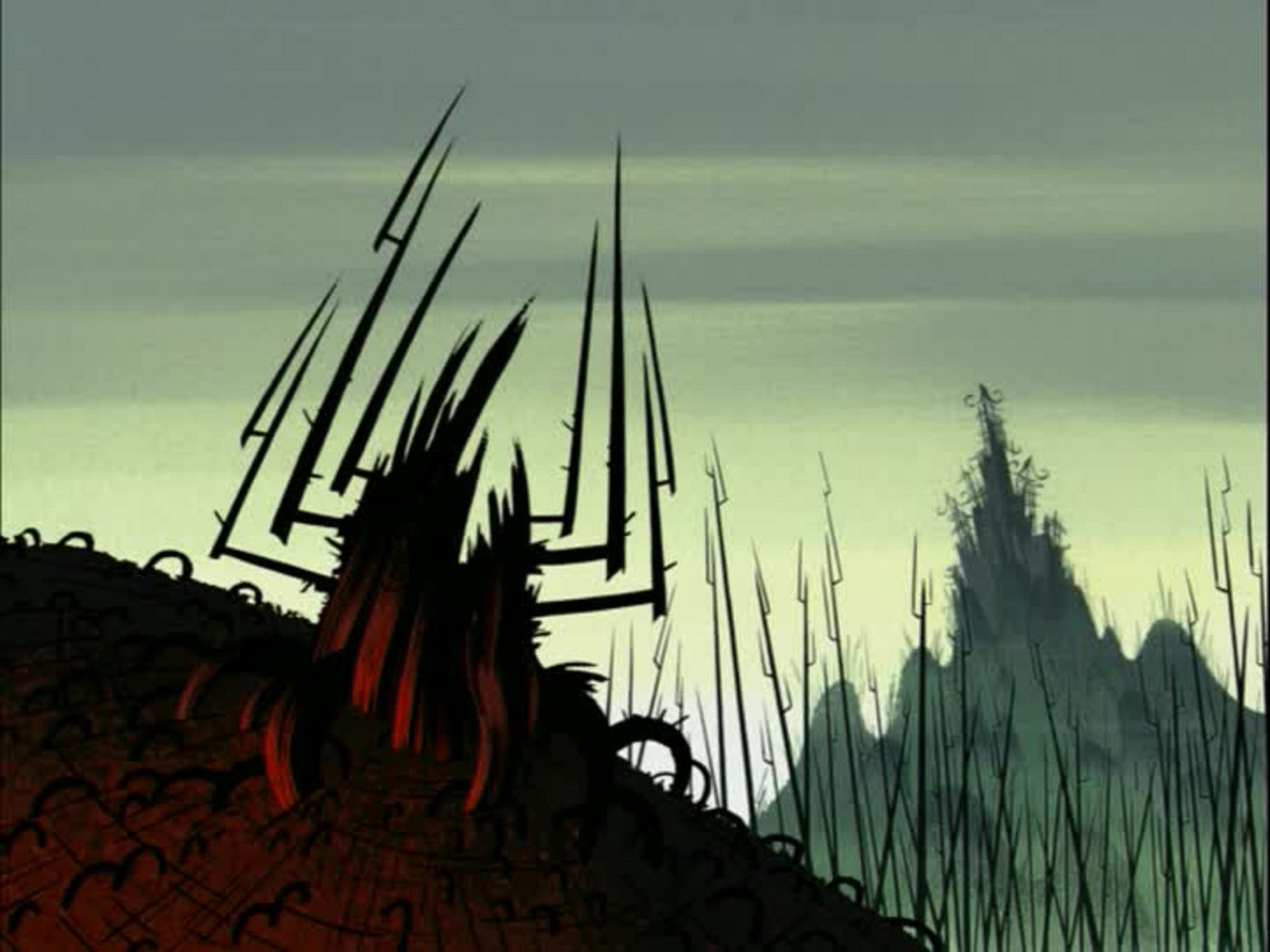 Aku is imprisoned in a tree like state after Jack's father defeats him.