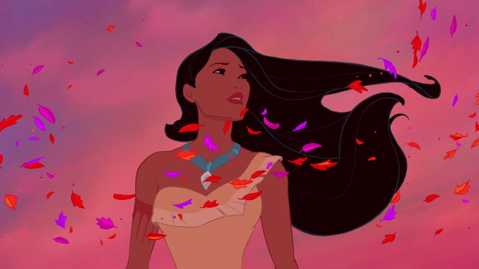Disney's Pocahontas dreams with all the colors of the wind (and social distancing).