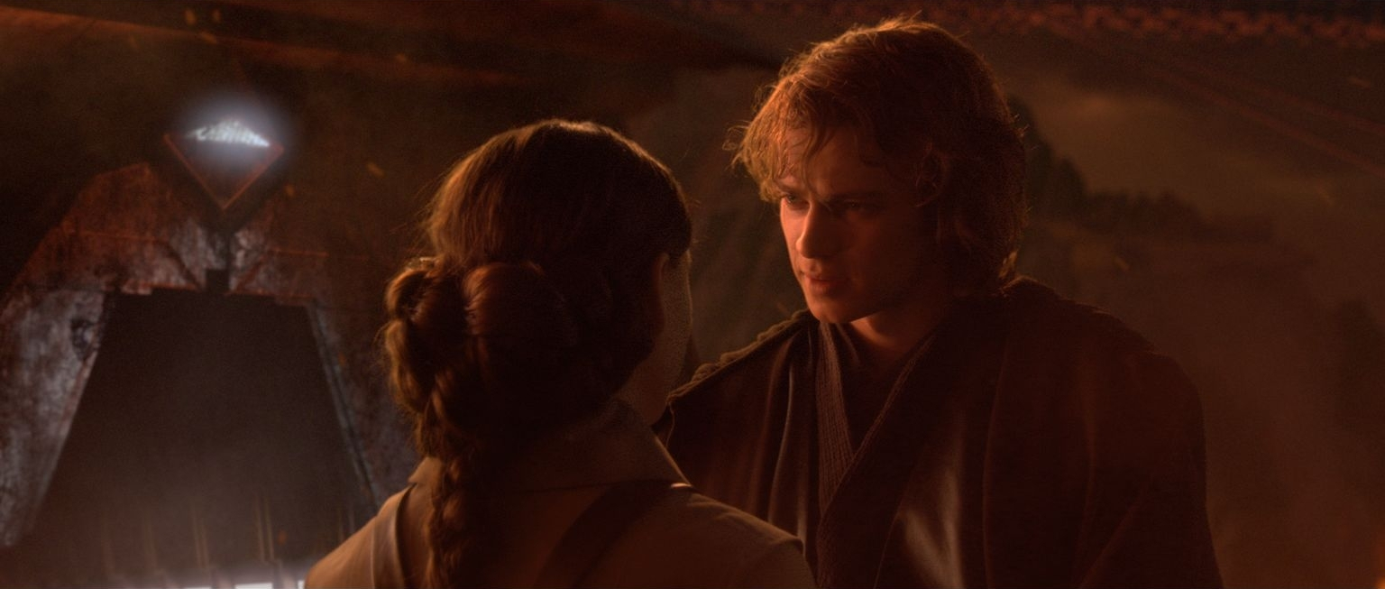 Padme confronts Anakin on Mustafar