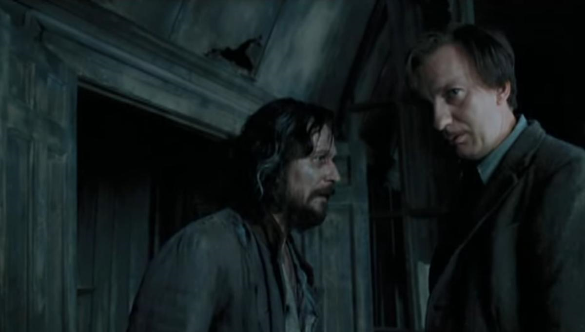 Gary Oldman as Sirius Black and David Thewlis as Remus Lupin in Harry Potter and the Prisoner of Azkaban
