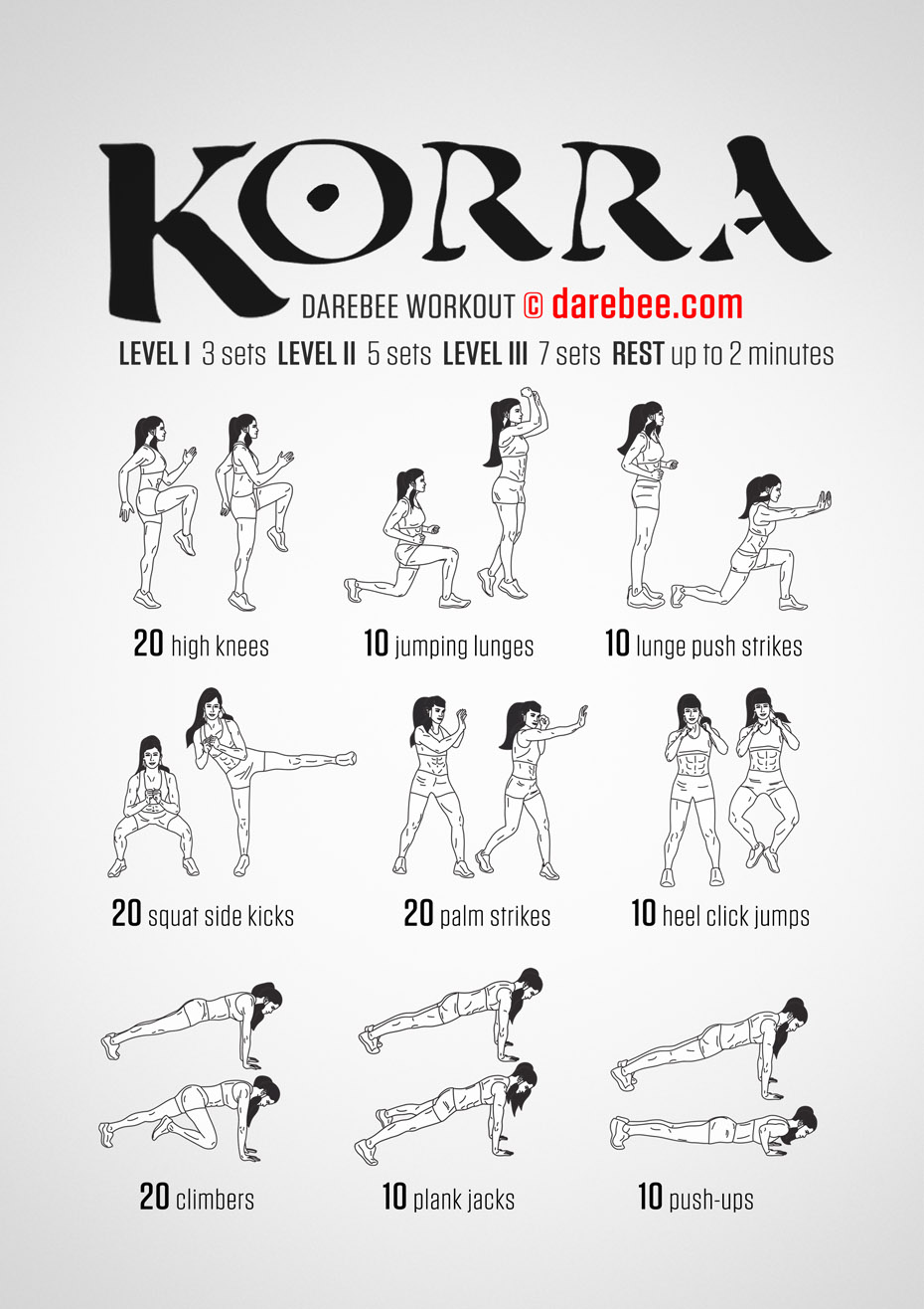 Darabee workout for a fresh workout