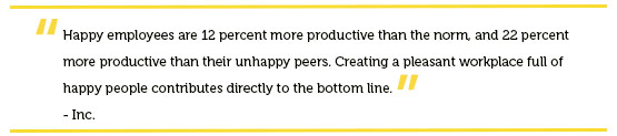 Workplace happiness quote by Inc. for Cranky Co-Workers-Day