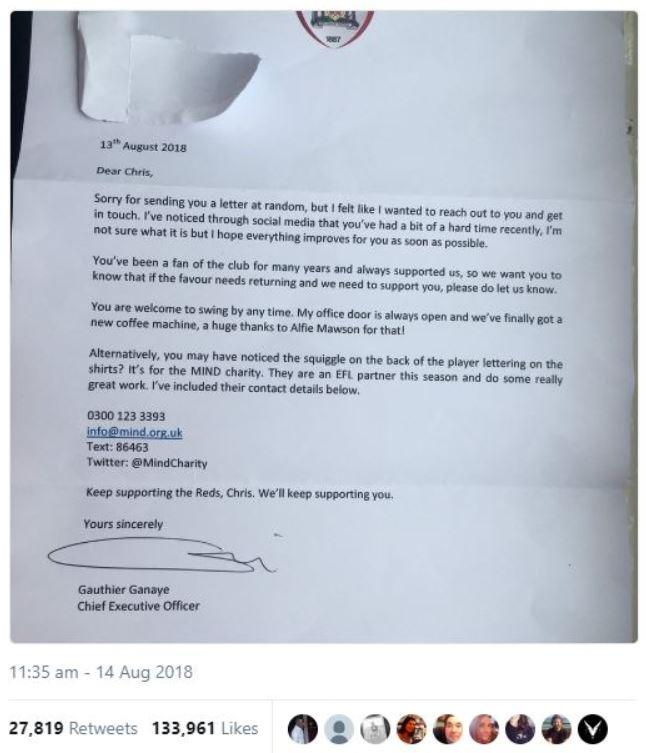 Feedback response Barnsley FC